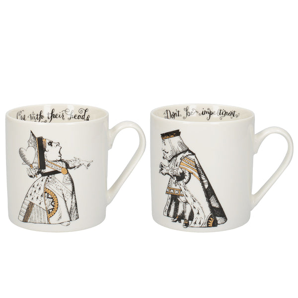V&A Alice in Wonderland King & Queen Mug Set