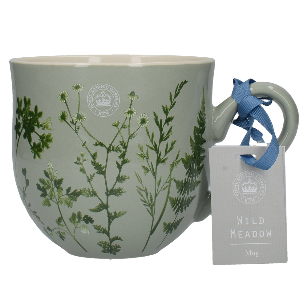 Kew Gardens Wild Meadow Green Ceramic Floral Mug by Creative Tops