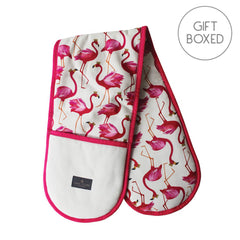 My Gifts Trade Sara Miller Flamingo Repeat Pink Cotton Oven Gloves