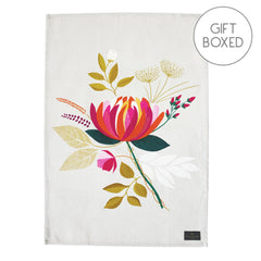 My Gifts Trade Sara Miller London Peony Placement Cotton Tea Towel