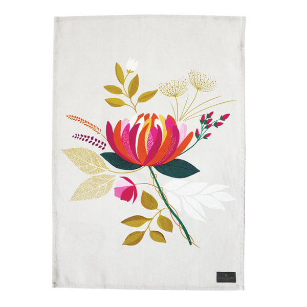 Sara Miller Peony Placement Cotton Tea Towel