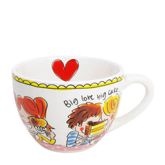 My Gifts Trade Blond Amsterdam Big Love Red Heart Mug 450ml Cup