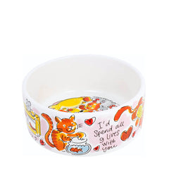 My Gifts Trade Blond Amsterdam Home Is Where My Cat Is Small Dog Bowl