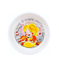 My Gifts Trade Blond Amsterdam Home Is Where My Cat Is Small Cat Bowl £17.89