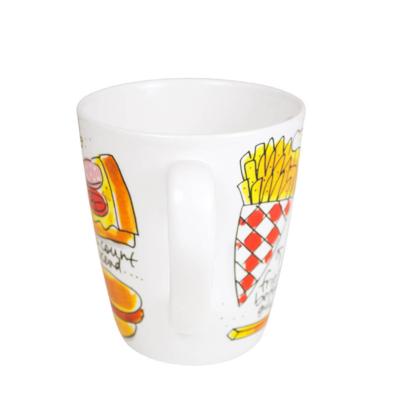 My Gifts Trade Blond Amsterdam I Heart Snacks Mug 450ml Ceramic Cup