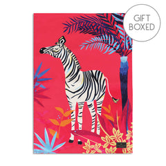My Gifts Trade Sara Miller Tahiti Zebra Placement Cotton Tea Towel