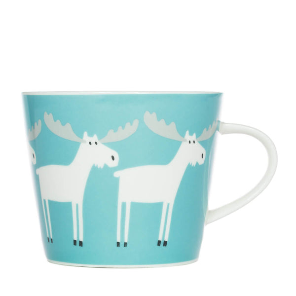Scion Marty Moose Aqua & Frost China Mug