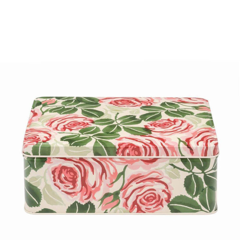 Elite Tins Emma Bridgewater Pink Roses Deep Rectangle Storage Tin