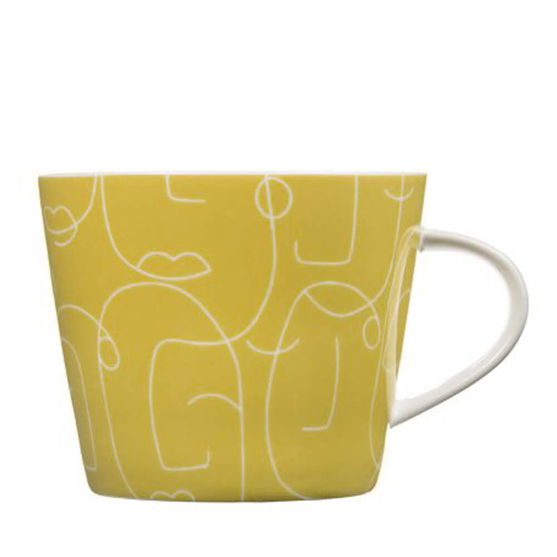 MAKE Int Scion Epsilon Zest Yellow Minimalist Fine China Mug
