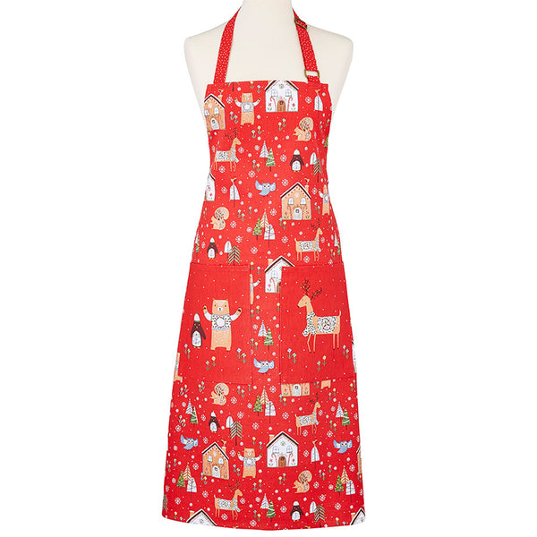 Festive Friends Cotton Kitchen Apron