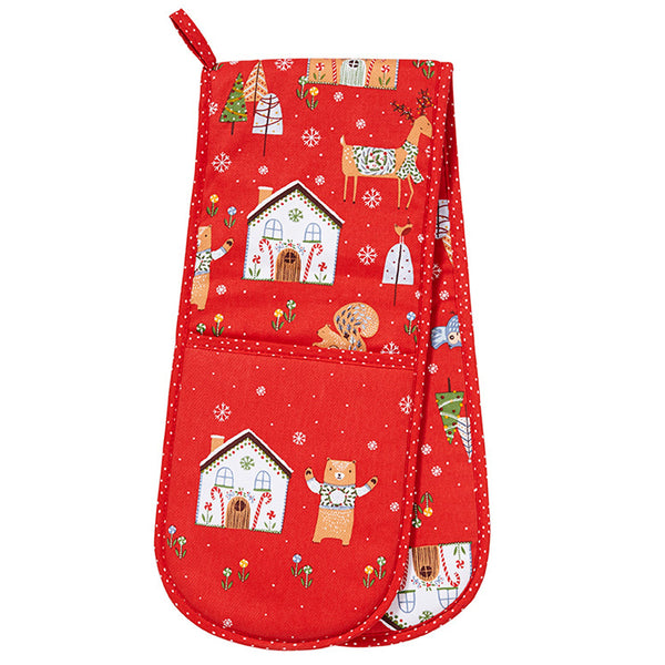 Festive Friends Double Oven Glove