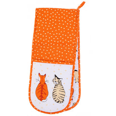 Ulster Weavers Cats In Waiting 100% Cotton Double Oven Glove