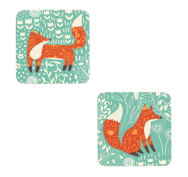 Foraging Fox Set of 4 Coasters