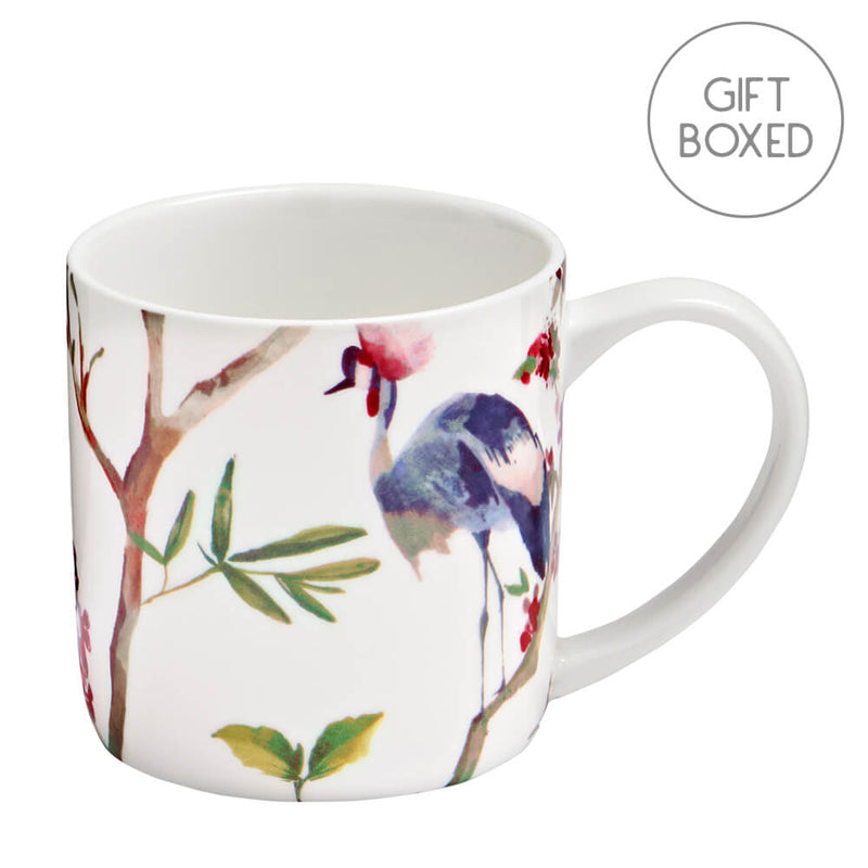 Ulster Weavers Oriental Birds China Gift Boxed Mug 300ml Coffee Cup