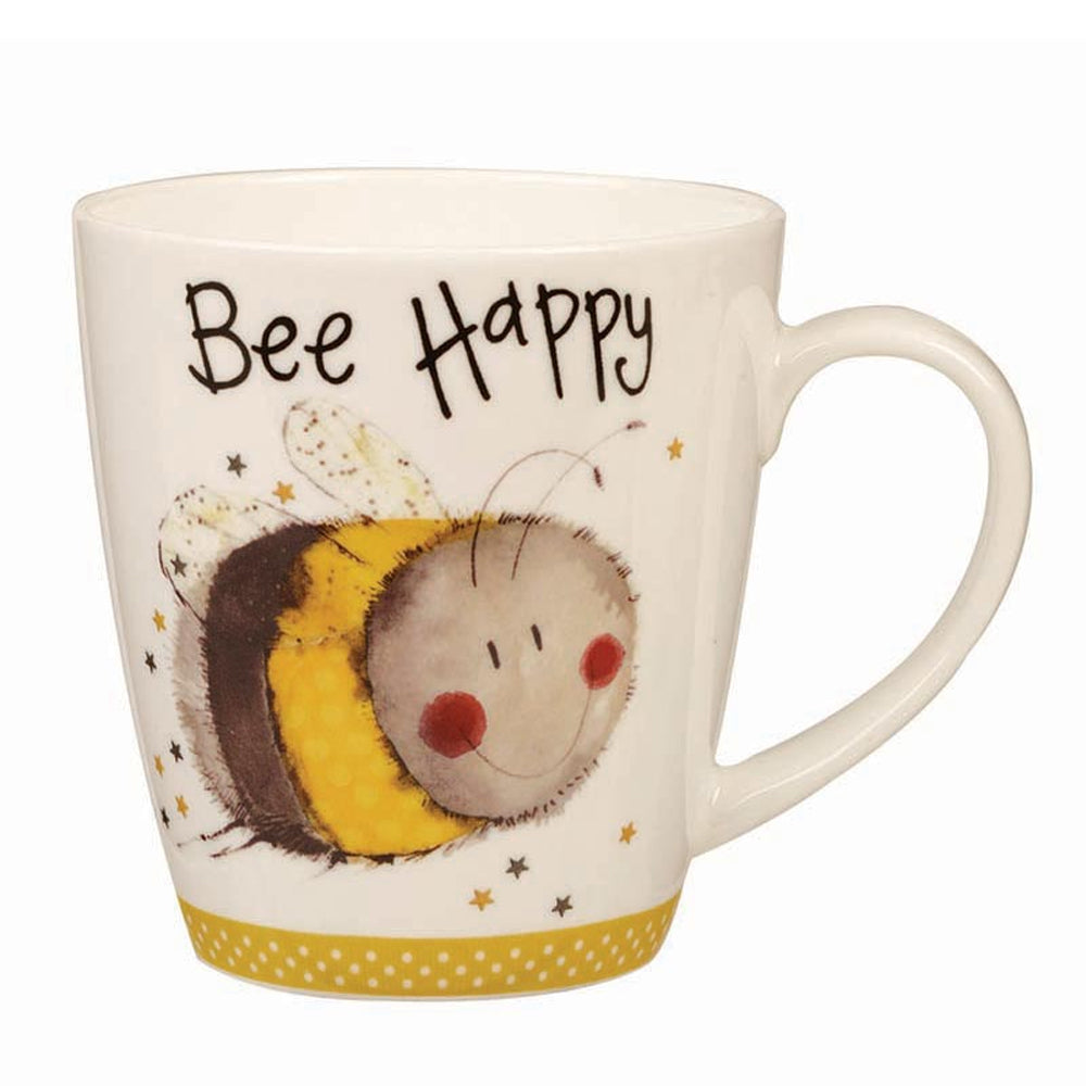 Churchill Alex Clark Bee Happy Bumblebee China Gift Mug Coffee Cup