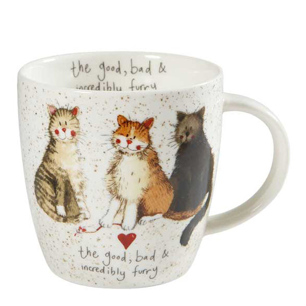 Alex Clark The Good, Bad & Furry China Mug
