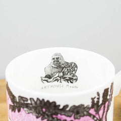 ARTHOUSE Meath Artist Designed Gorillas Fine Bone China Gift Mug