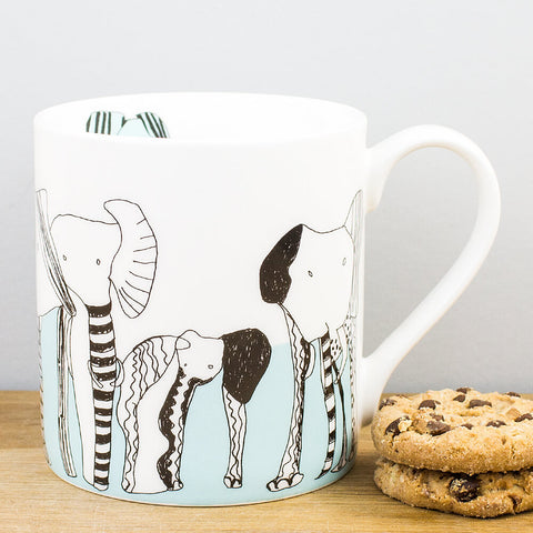 Never Forget Elephants China Mug by ARTHOUSE Meath