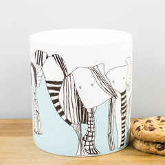 ARTHOUSE Meath Artist Designed Elephants Fine Bone China Gift Mug