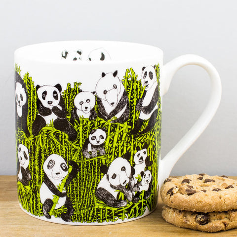 Panda Party China Mug by ARTHOUSE Unlimited