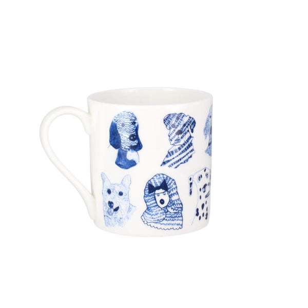 ARTHOUSE Unlimited Artist Designed Blue Dogs Fine Bone China Gift Mug