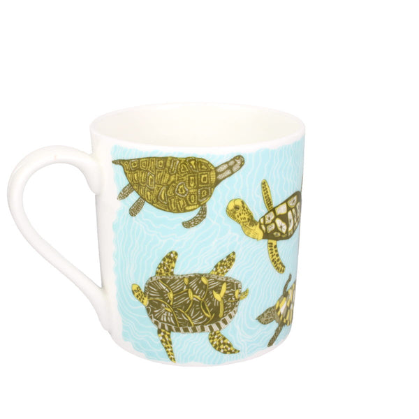ARTHOUSE Unlimited Artist Designed Turtletastic Bone China Gift Mug