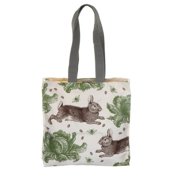 Thornback & Peel Rabbit & Cabbage Cotton Canvas Tote Bag