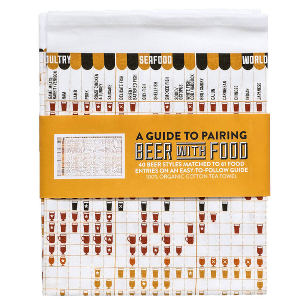 A Guide to Pairing Beer with Food Cotton Tea Towel