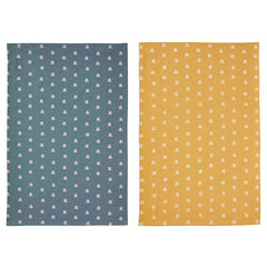 Bee Print Blue & Yellow 100% Cotton Tea Towel 2 Set by Ulster Weavers