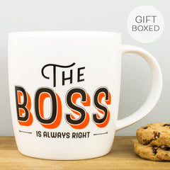 Legami The Boss is Always Right Bone China Personalised Gift Box Mug