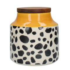 Mikasa Drift Cheetah Spots Kitchen Storage Jar with Wooden Lid