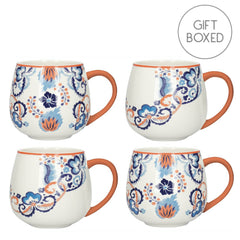 Creative Tops V&A Rococo Silk China Gift Boxed Mug Set of Four Cups