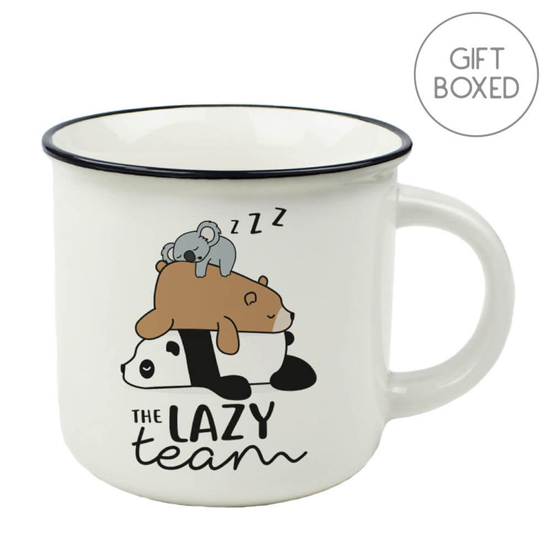 Legami Cup-puccino The Lazy Team China Mug Gift Boxed Coffee Cup