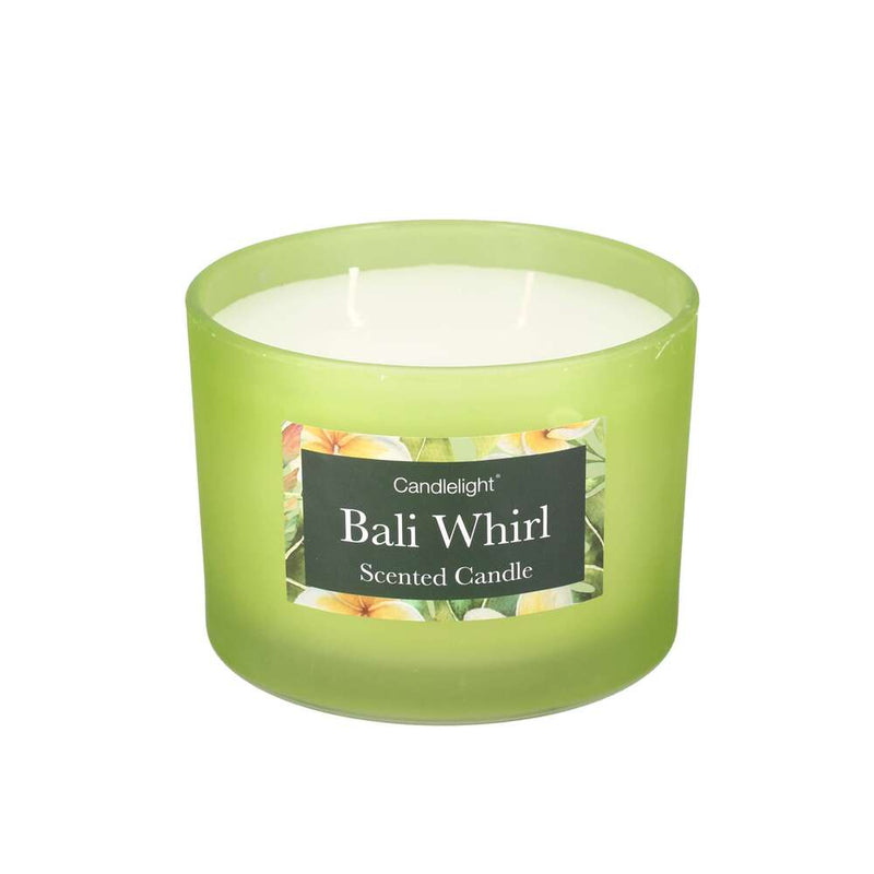 Candlelight Two Wick Glass Sea Salt Scented 30 Hr Candle - Bali Whirl