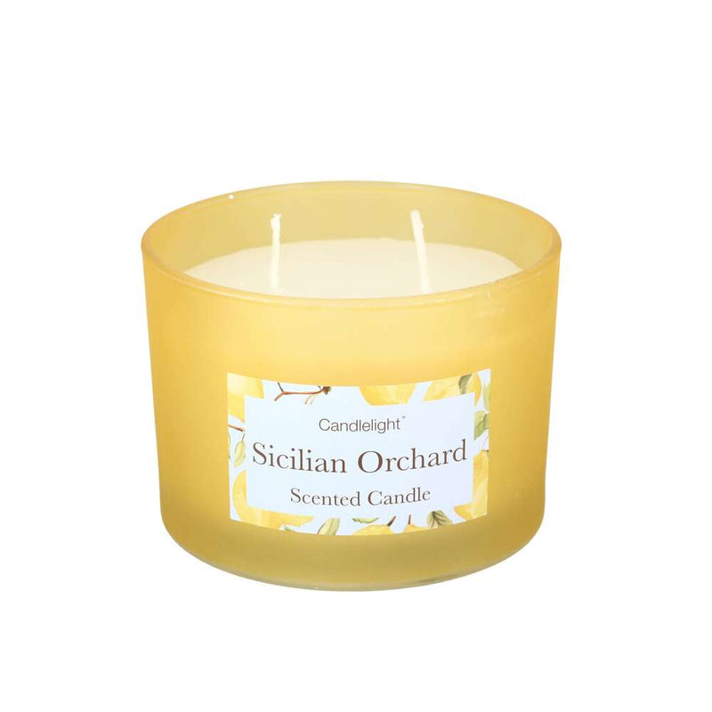 Candlelight Two Wick Glass Scented Candle - Sicilian Orchard - 30 Hour…