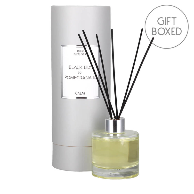 Candlelight Calm Black Lily & Pomegranate Scented Reed Diffuser Gift