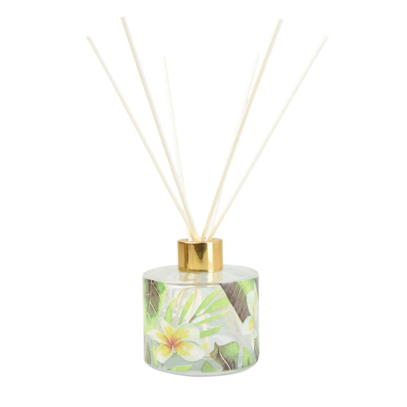 Candlelight Patterned Glass Reed Diffuser Bali Whirl Sea Salt Scent