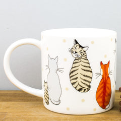 Ulster Weavers Cats in Waiting Bone China Personalised Gift Mug