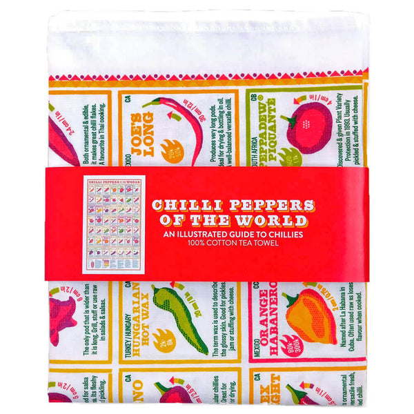 Chilli Peppers of the World Cotton Tea Towel
