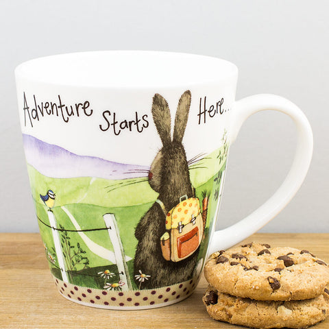 Alex Clark Adventure Starts Here China Mug by Churchill