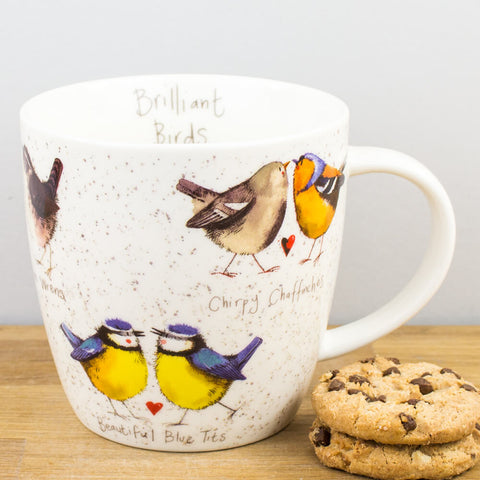 Alex Clark Brilliant Birds China Mug by Churchill