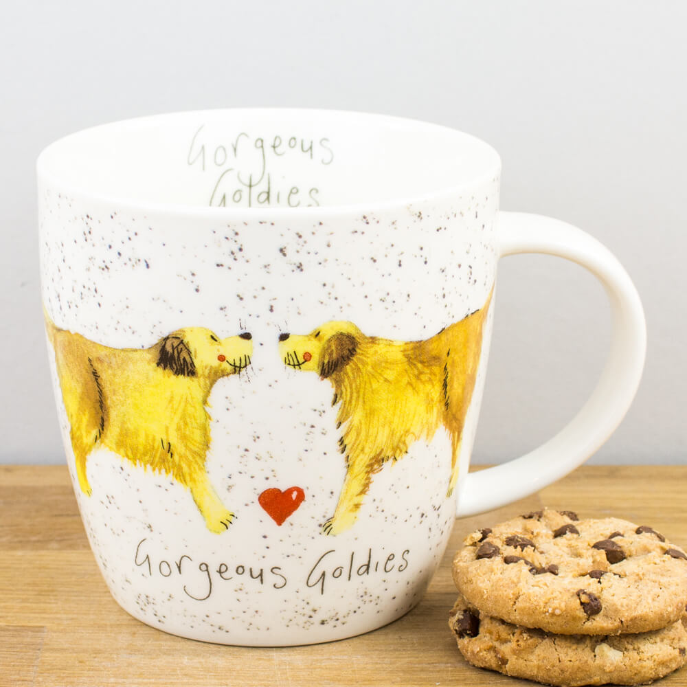 Churchill Alex Clark Gorgeous Goldies Dog China Mug 430ml Coffee Cup