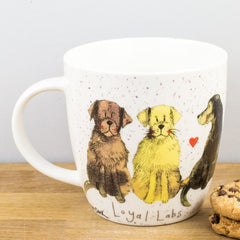 Churchill Alex Clark Loyal Labs Dog Fine China Mug 430ml Coffee Cup