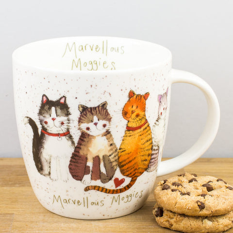 Alex Clark Marvellous Moggies China Mug by Churchill