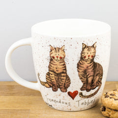 Churchill Alex Clark Tremendous Tabbies Cat China Mug 430ml Coffee Cup