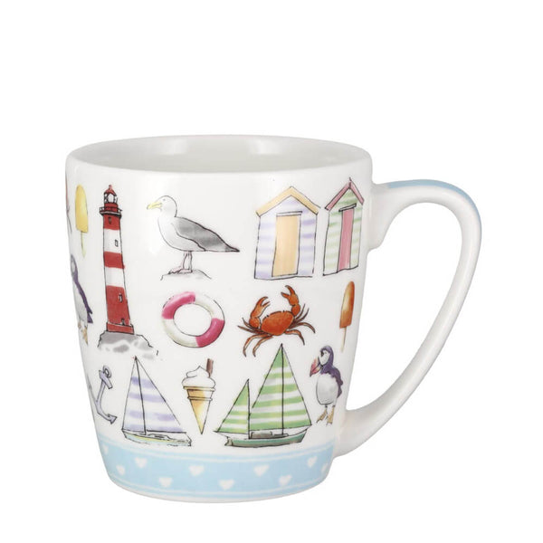 Churchill Living The Dream Beach Life 280ml Fine China Mug UK Made