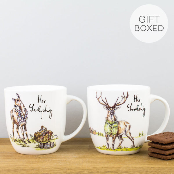 Country Pursuits Lordship & Ladyship China Mug Set