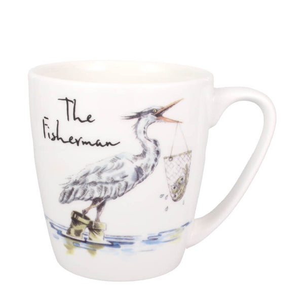 Churchill China Country Pursuits The Fisherman Heron Bird Gift Mug