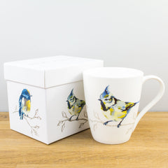 Churchill China Persico Birds Turquoise Fine Bone China Gift Boxed Mug