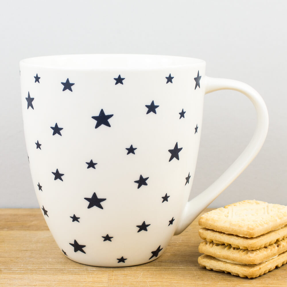 Churchill China Couture Sieni Ink Blue Stars China Gift Mug 500ml Cup